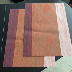 Chilewich place mats, new color block texture